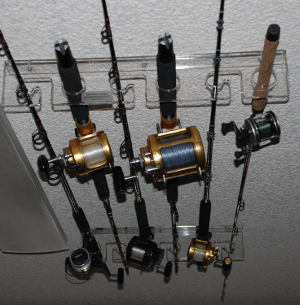 Fishing pole storage holder ideas for the house for How many fishing rods per person in texas
