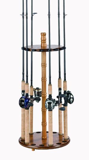 Best wooden fishing rod holders wood fishing rod holders for Fishing rod holders for home