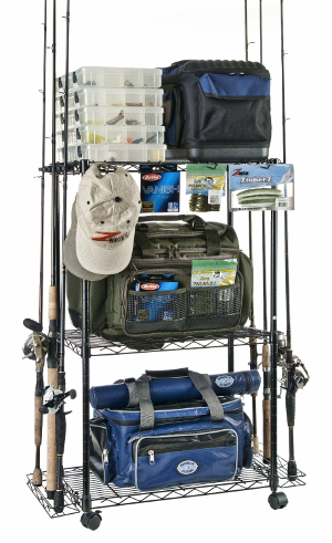 Fishing pole storage holder ideas for the house for Fishing tackle organization