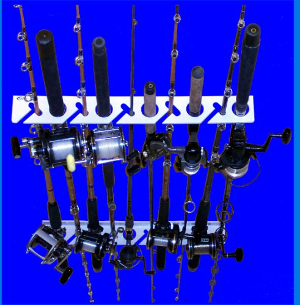 Ultimate Rod Sitter - 10 Fishing Rod Storage Rack